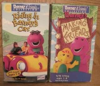 VIDEOS BARNEY & FRIENDS DINOSAUR SANTA ROCK ABC SCHOOL NUMBER CAR ZOO