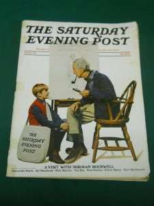 SATURDAY EVENING POST MAGAZINE SUMMER 1971 ~NORMAN ROCKWELL PETE