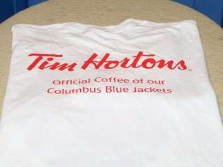TIM HORTONS Oficial Coffee COLUMBUS BLUE JACKETS Chicago Blackhawks
