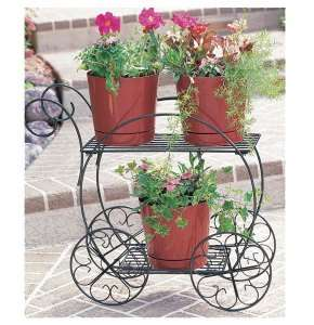 Cobraco 2 Tier Garden Cart Steel Planter Flower Outdoor Stand Plant