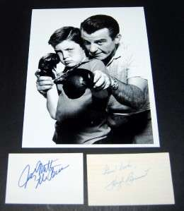 RARE HUGH BEAUMONT JERRY MATHERS SIGNED CARDS AND GREAT LEAVE IT TO