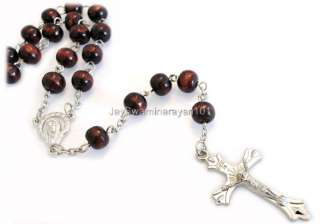 Wooden Rosary Beads Rosaries Mans Necklace 30 Long