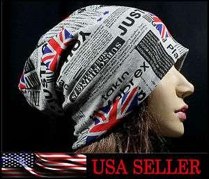 Flag Pattern Style Beanie Skull Ski Women Men Hat Boy Girl Cap