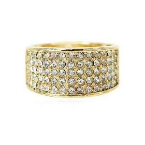 CZ Cocktail Ring  14KT Gold Filled Clear Cubic Zirconia Fashion Ring