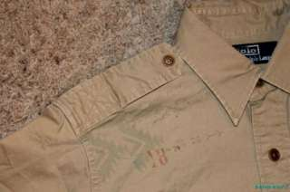 NWT $98 Polo Ralph Lauren Beacon Military Shirt Medium