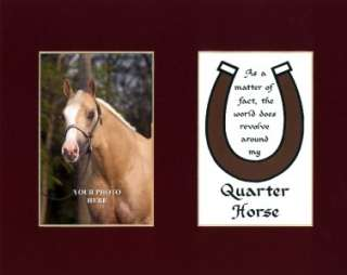 Quarter Horse Saying Humor Quote Poem Matted Print
