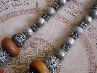 Antique Ethnic Middle Eastern Necklace, nice contrast of antique