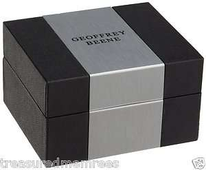 Geoffrey Beene Cufflinks & Tie Bars ~ Comes in Black & Silver Gift Box