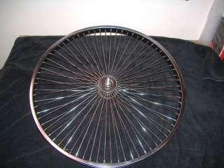 26 72 sp CHROME FRONT WHEEL LOW RIDER BIKE BICYCLE