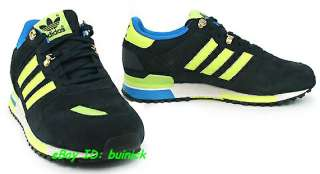 ADIDAS ZX 700 Trainers Black Yellow Blue Suede Mesh outdoor new UK8