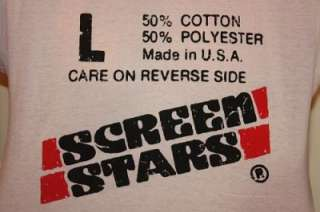 NOS vtg 80s SCREEN STARS t shirt *soft thin
