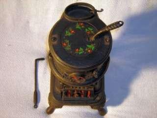 Antique Spark Railroad Mini Cast Iron Pot Belly Stove Salesman Sample