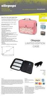 Oliepops Original Pink Union Jack Laptop Case bag fits upto 17.3