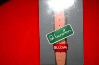 BULOVA BENETTON TIME OF THE WORLD FASHION WATCH