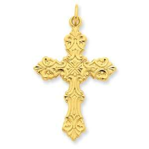 Silver & 24k Gold plated Cross Pendant West Coast Jewelry Jewelry