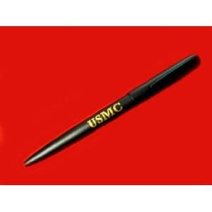 Corps Black Matte Fisher Space Pen with USMC Initials