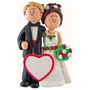 Wedding Couple Blonde Hair Male with Brown Hair Female Beauty