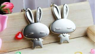 Cute Rabbit Lovers Couple Pair Key Chain KeyChain Ring For Gift