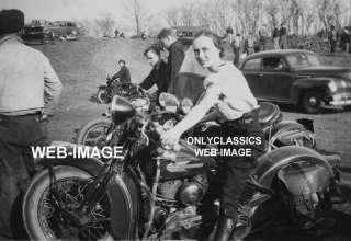 40 HARLEY DAVIDSON WOMAN MOTORCYCLE HILL CLIMB PHOTO IN