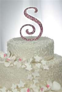 Large Custom Monogram Initial Wedding Cake Topper Swarovski Crystals 6