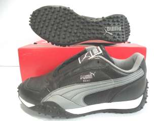 PUMA TEMO PERF SNEAKERS MEN SHOES BLACK/GRAY 340908 02 SIZE 5 NEW IN