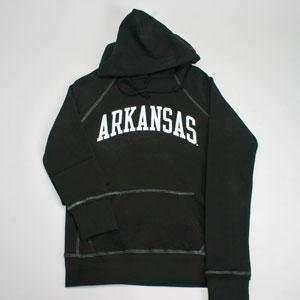 Arkansas Hooded Sweatshirt   Ladies Hoody By League   Black   Large