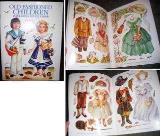 Old Fashioned Children Paper Dolls Book Toy Homeschool