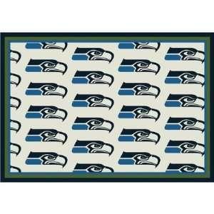 Team Repeat Seattle Seahawks Football Rug Size 54 x 78 Furniture