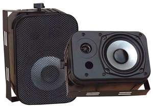 NEW PYLE PDWR40B PRO BLACK OUTDOOR AUDIO 800w SPEAKERS 068888882231
