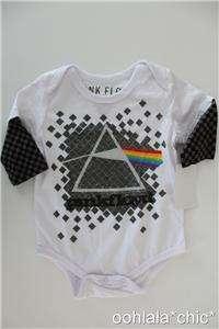 PINK FLOYD Dark Side of the Moon Cover Logo Newborn Baby Infant Onesie