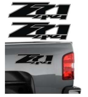 Z71 4x4 Vinyl Decals / Stickers Chevy Silverado GMC Sierra Z 71 Black