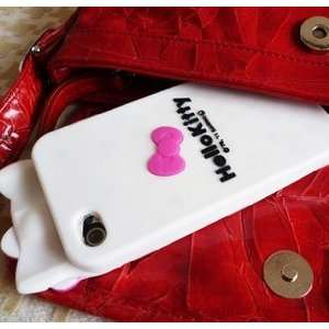 Soft Case/Cover/Protector(White Case with Rose Pink Bow) Cell Phones