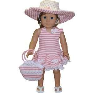 Toy Yellow Embroidered dress for American Girl dolls Toys & Games
