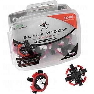 New SOFTSPIKES Black Widow TOUR Q Fit QFit Golf Shoe Cleat Kit