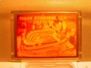 1994 Blockbuster Video Gold Hologram Tiger Stadium Detroit Tigers