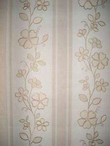 Wallpaper Vintage Shand Kydd Large Tan Floral 63353