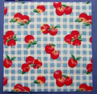 203 Pink Red Green Blue Floral Button Fabric Squares Quilt Blocks 4x4
