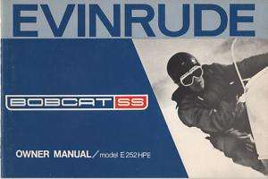1972 EVINRUDE BOBCAT SS SNOWMOBILE OWNERS MANUAL