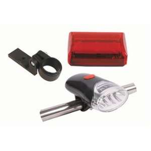 White LED Bike Head Light with Flashing Red Tail Light wit