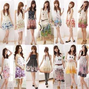 Womens Hippie BOHO Exotic Summer Chiffon Floral Prints Dress Multi