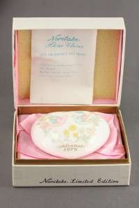 Vintage Noritake Bone China 1979 Valentines Day Heart