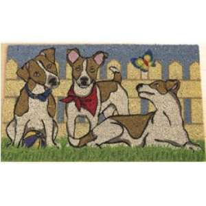 JACK RUSSELL terrier COIR DOORMAT welcome MAT rug NEW