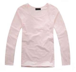fashion dress Mens Wool Long Sleeve Round Neck cotton T Shirt 8 colors