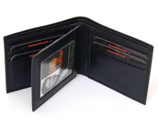 Swiss Bags Mens Leather Wallet ID Window Card Case Extra Capacity