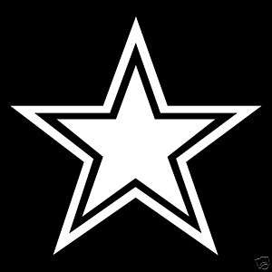 12 DALLAS COWBOYS STAR LOGO   VINYL WINDOW DECAL