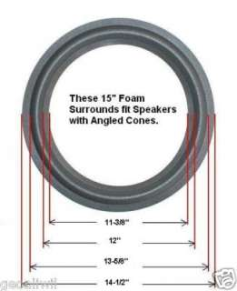 two 15 high quality foam surround rings measuring