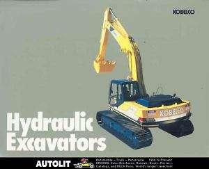1985 ? Kobelco Hydraulic Excavator Brochure Japan