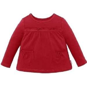 The Childrens Place Girls Long Sleeve Babydoll Top Red