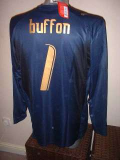 Puma New BNWT Adult XL Buffon Soccer Football GK Jersey L/S
