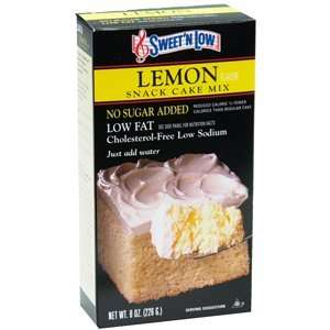 NO SUGAR ADDED   CAKE MIX LEMON 8oz by BERNARD FOOD INDUSTRIES
